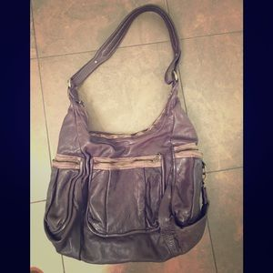 Bought in Tokoyo Oversized Washed Leather Hobo
